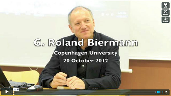 Video: G. Roland Biermann at Copenhagen University